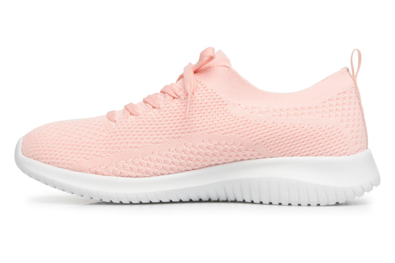 Sportssko Skechers Ultra Flex-Statements Pink se forfra