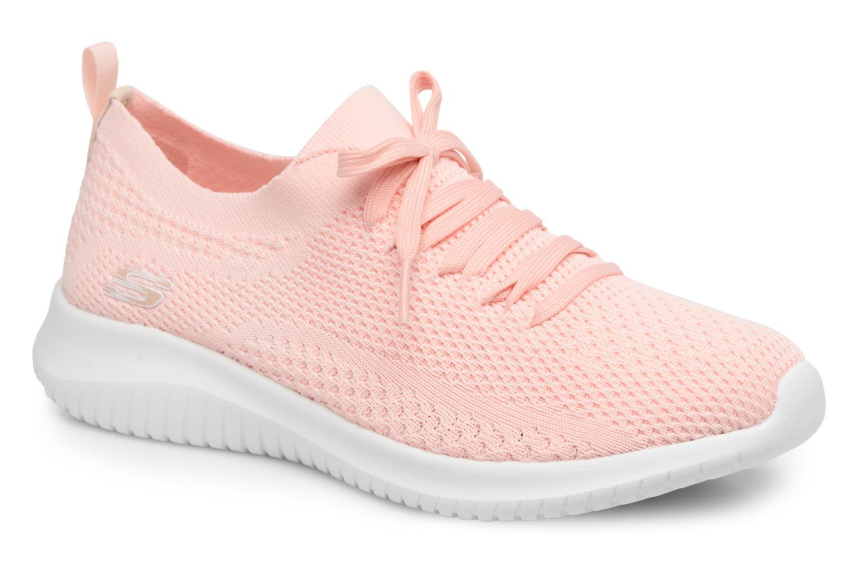 Sportssko Skechers Ultra Flex-Statements Pink detaljeret billede af skoene