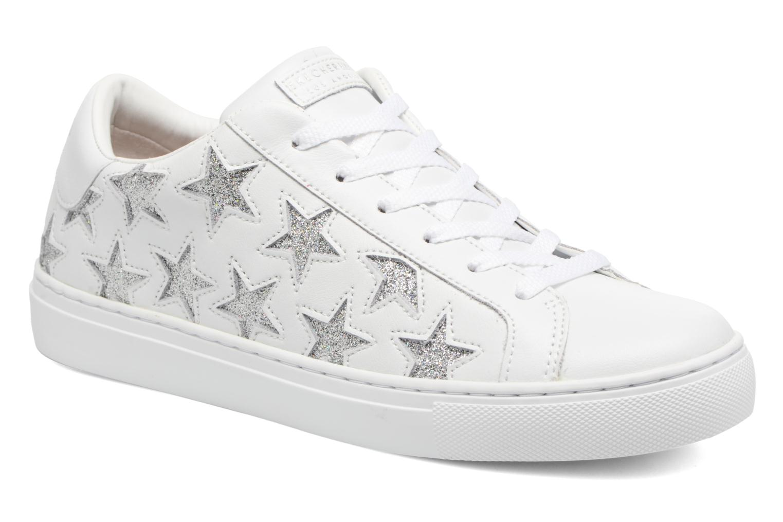 Baskets Skechers Side Street-Star Side Blanc vue détail/paire