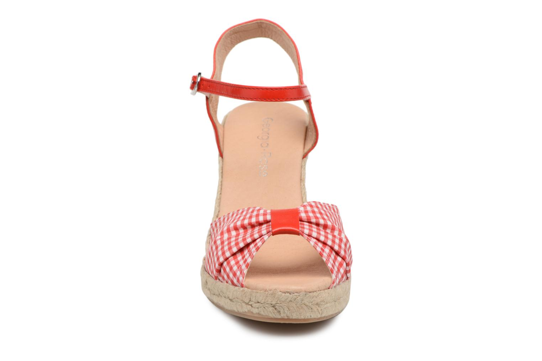 Espadrilles Georgia Rose Drigitte Rouge vue portées chaussures