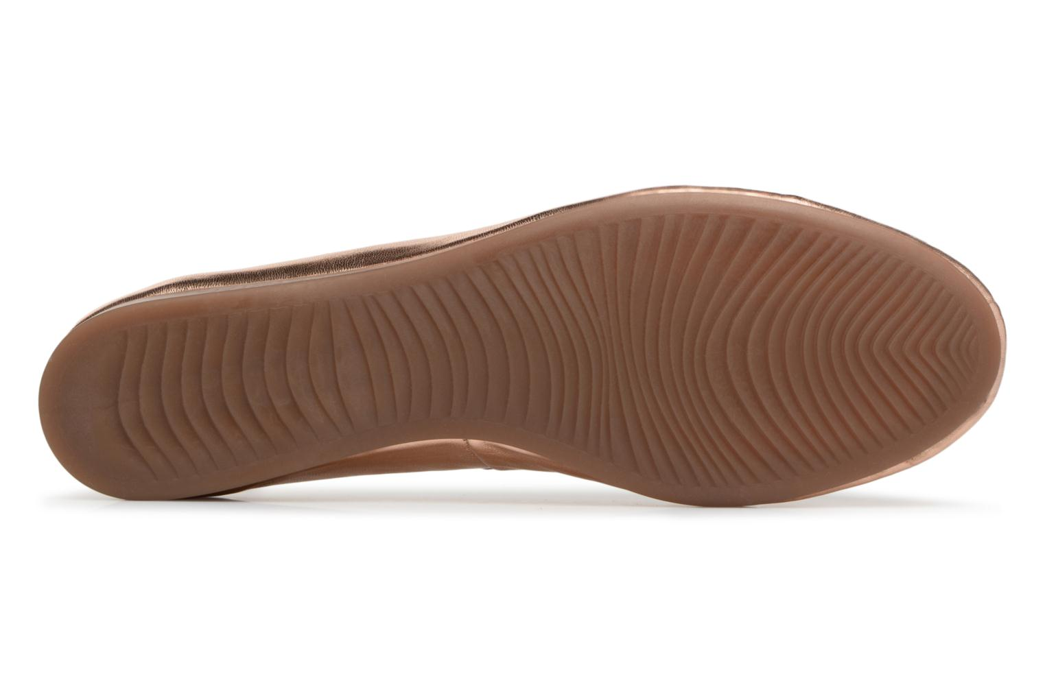 Ballet pumps Georgia Rose Lenova Soft Bronze and Gold view from above