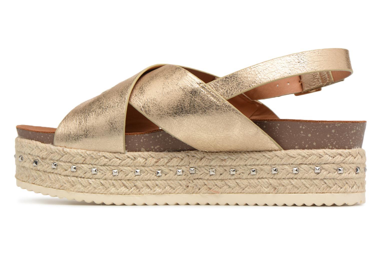 Sandales et nu-pieds Refresh Onos Or et bronze vue face