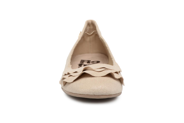 Ballerines Refresh Pyll Or et bronze vue portées chaussures