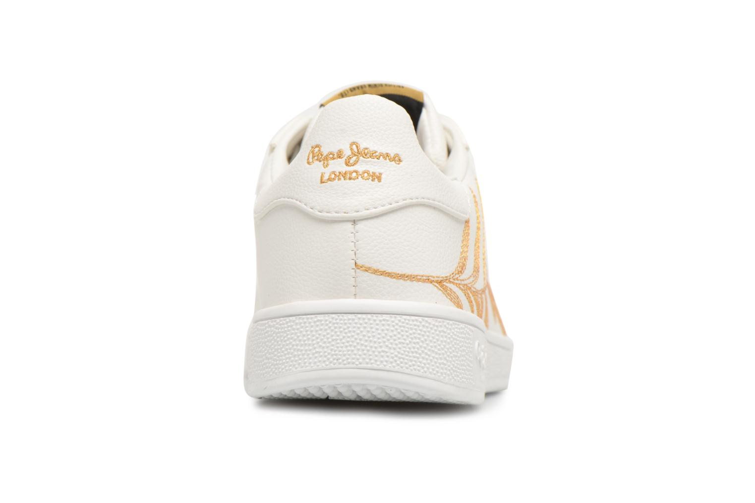 Baskets Pepe jeans Brompton Embroidery Blanc vue droite