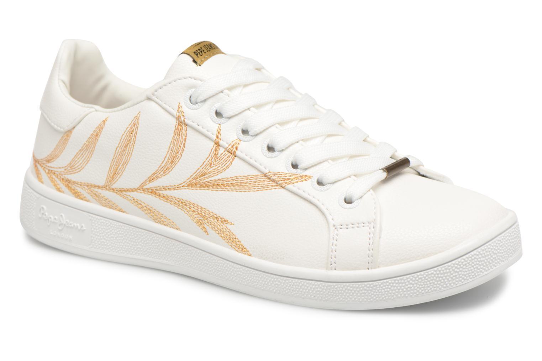 Baskets Pepe jeans Brompton Embroidery Blanc vue détail/paire