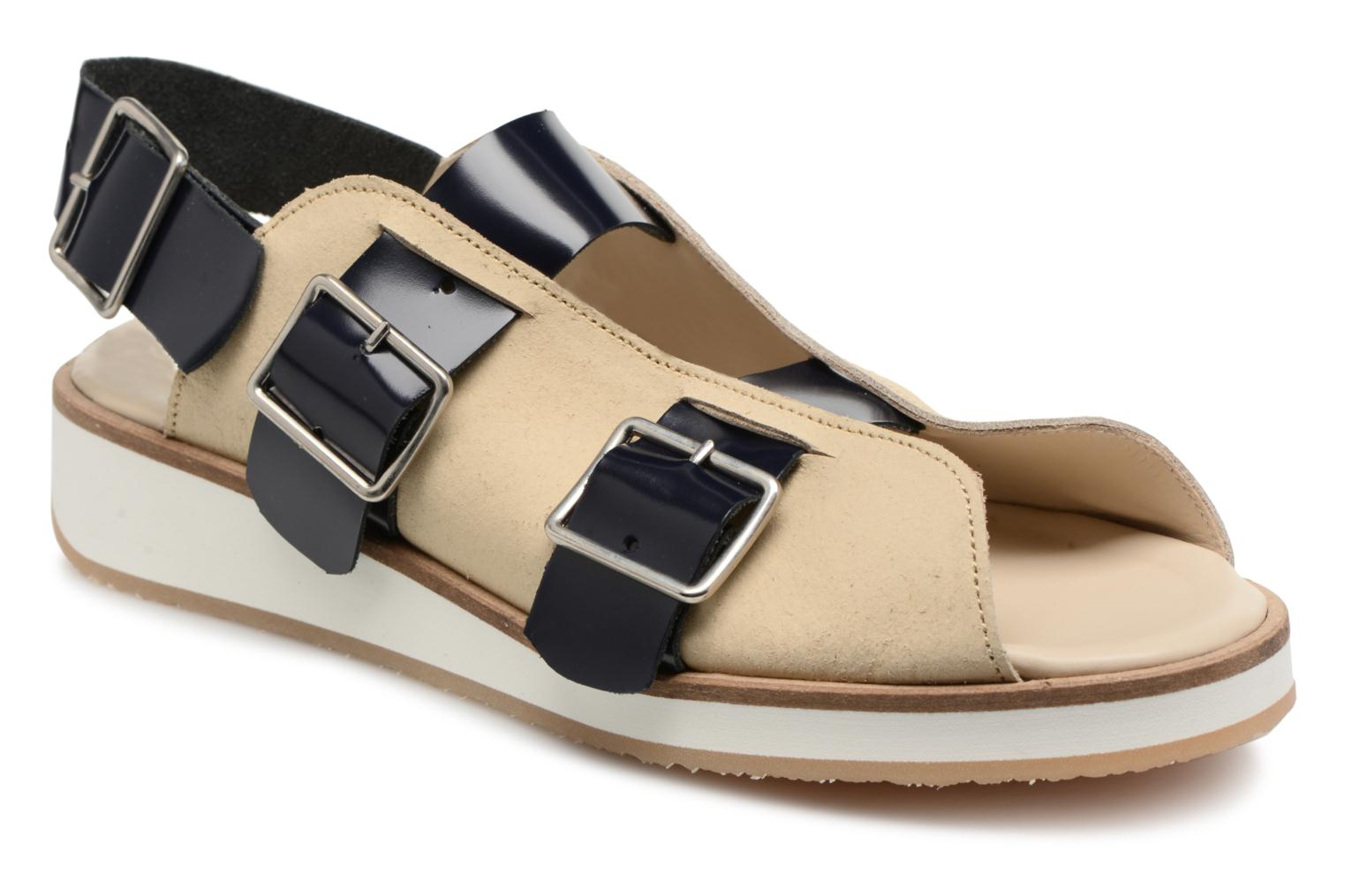 Strap Buckle 1 Deux florantic White and Sandal navy Souliers gRwExH