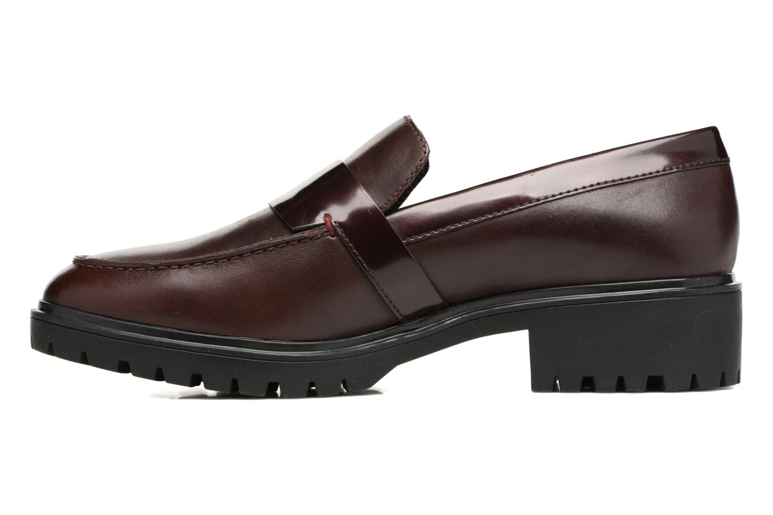 Mocassins Geox D Peaceful D640GG Bordeaux vue face