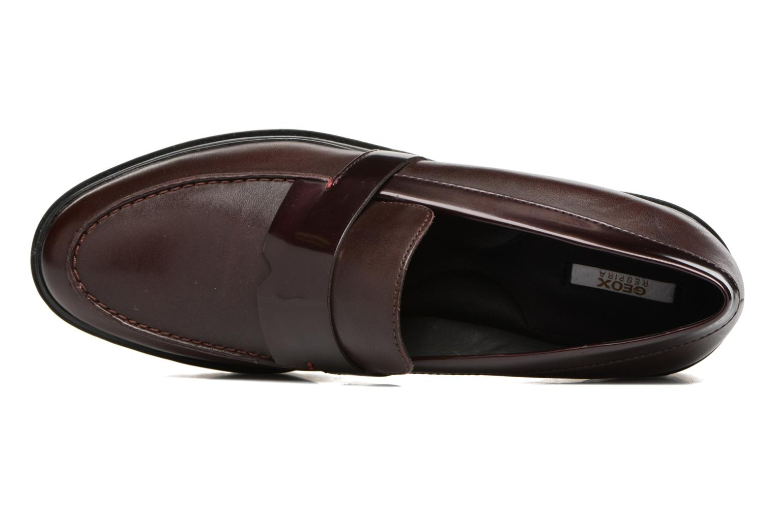 Mocassins Geox D Peaceful D640GG Bordeaux vue gauche