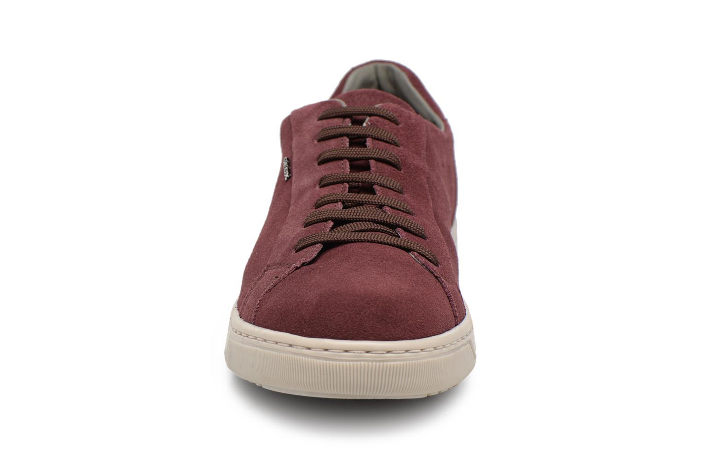 Baskets Geox Uomo Rikin U64W1F Bordeaux vue portées chaussures