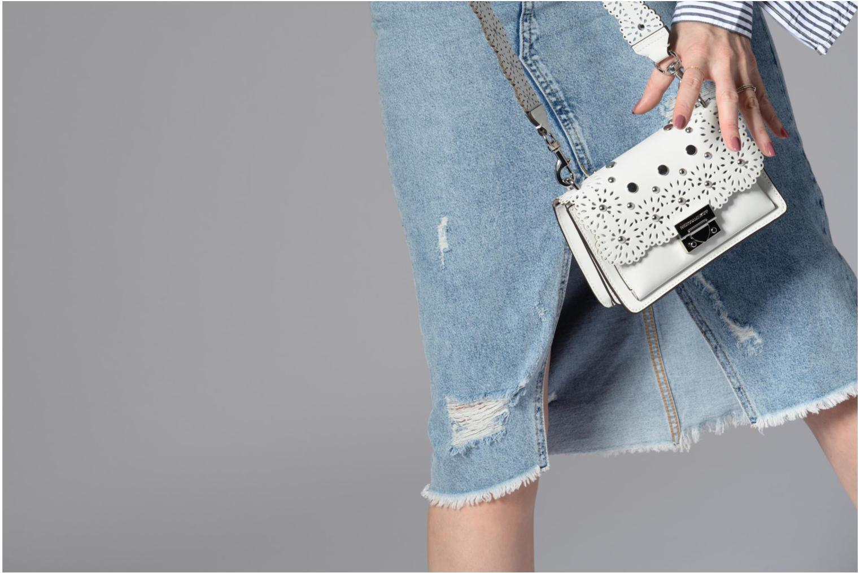 Sacs à main Rebecca Minkoff Christy SM Shoulder Bag Blanc vue haut