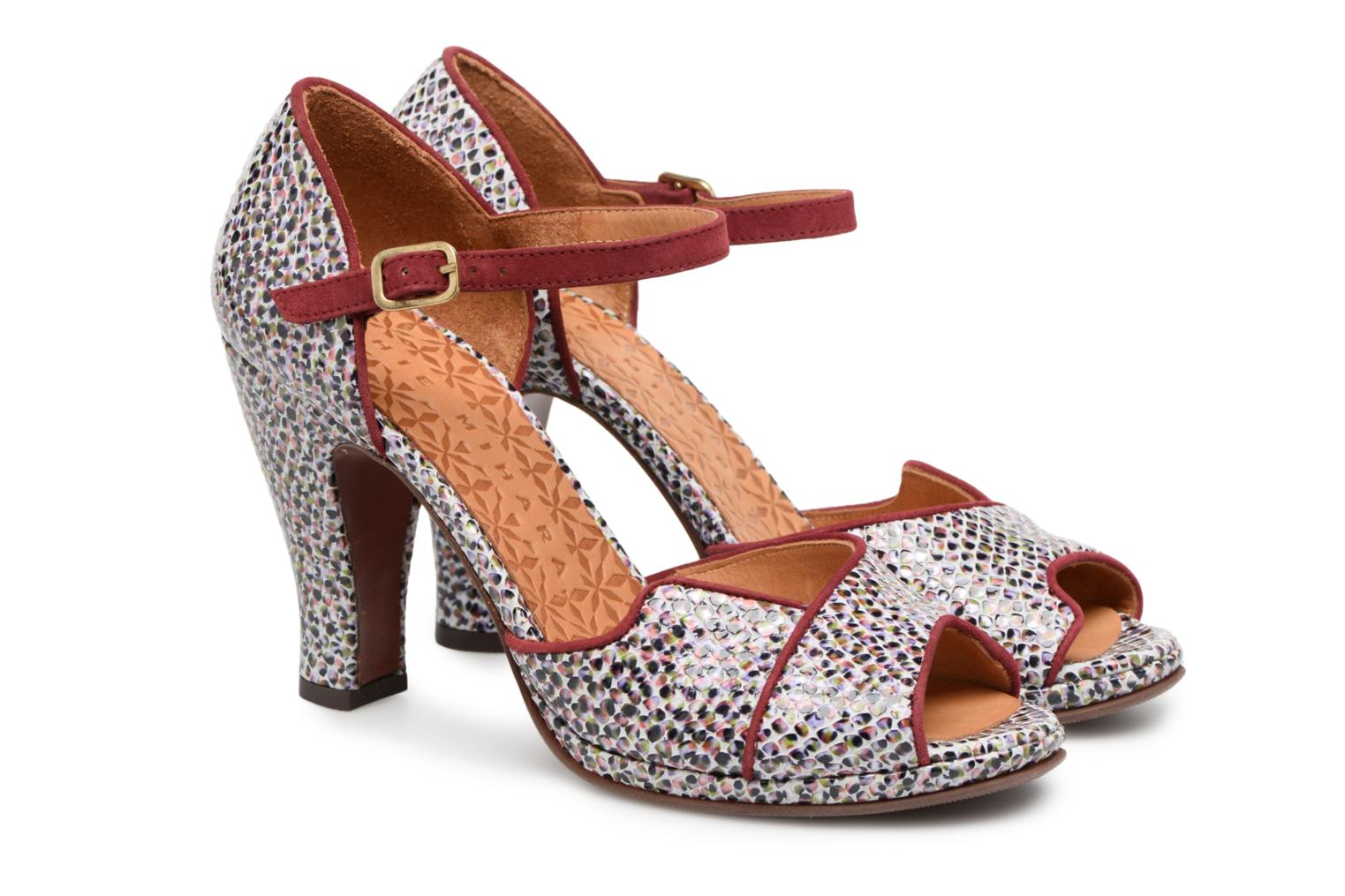 High heels Chie Mihara Fan32 Multicolor 3/4 view