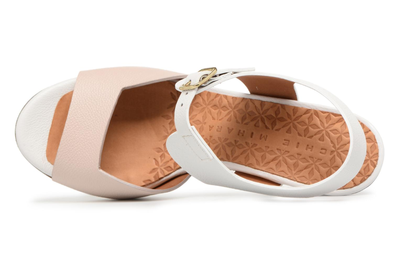 Sandals Chie Mihara Loteria32 Beige view from the left