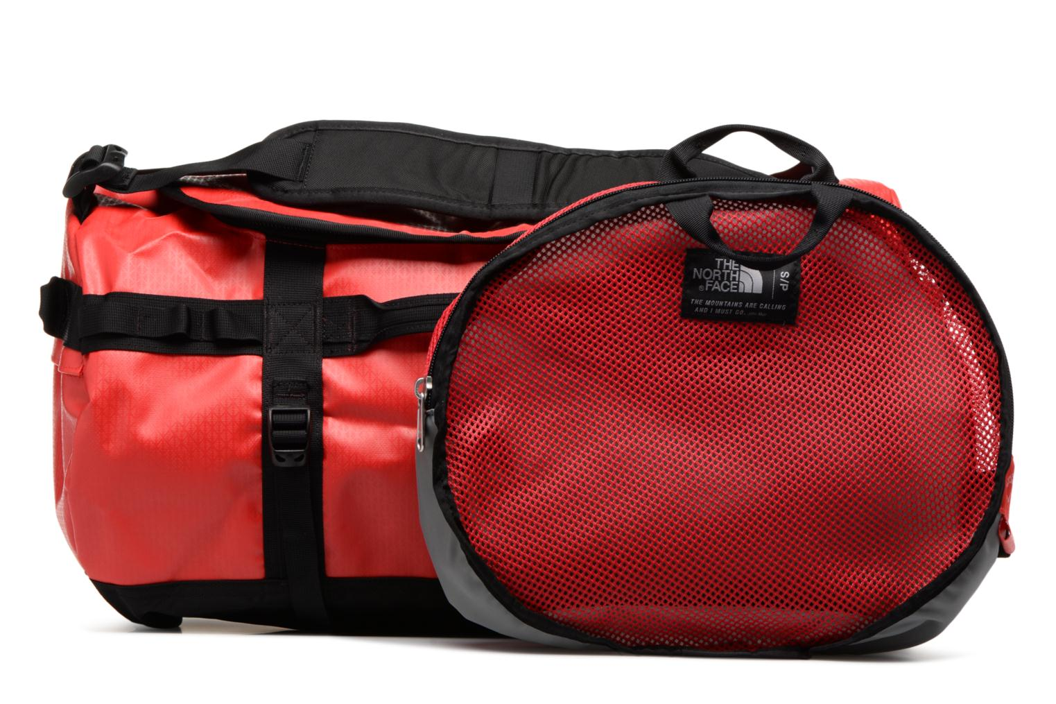 Sporttaschen The North Face BASE CAMP DUFFEL - S rot ansicht von links
