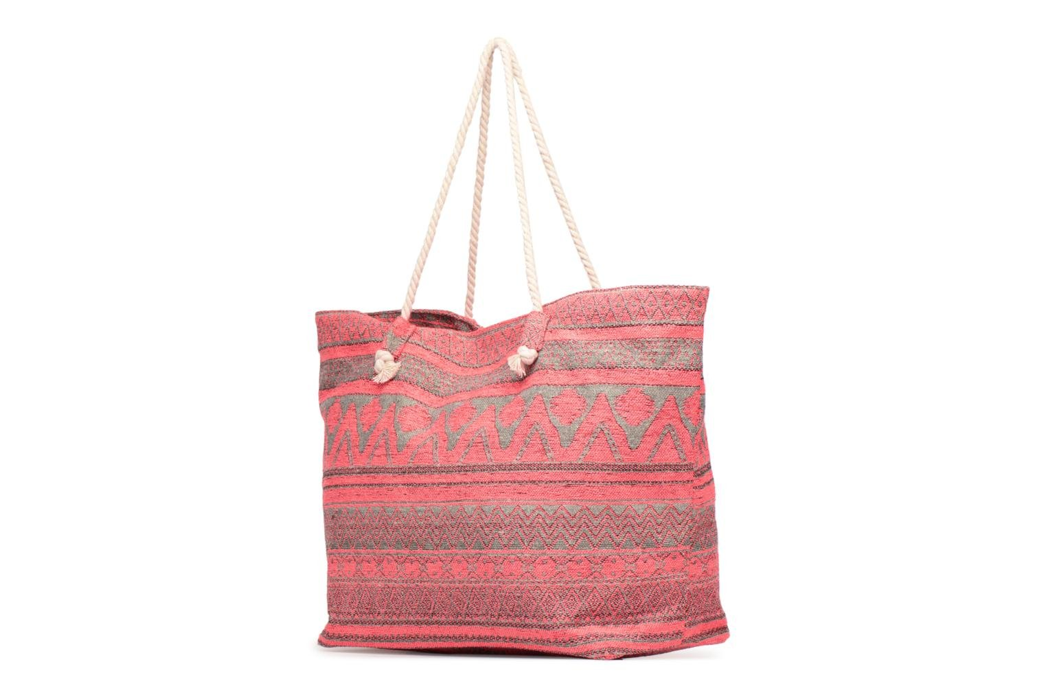 Handtassen Pieces Grace Canvas Shopper Roze model