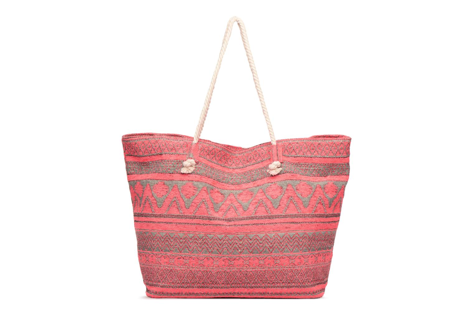 Handtassen Pieces Grace Canvas Shopper Roze voorkant