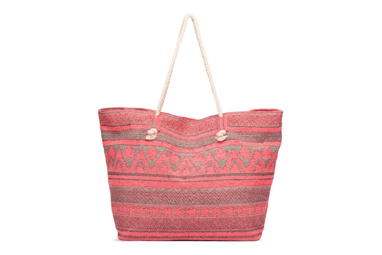 Handtassen Pieces Grace Canvas Shopper Roze voorkant