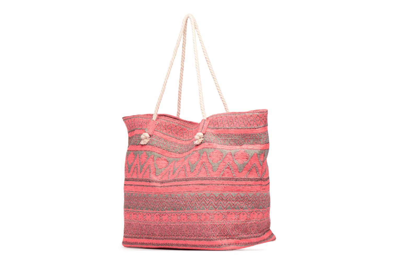 Handtassen Pieces Grace Canvas Shopper Roze rechts