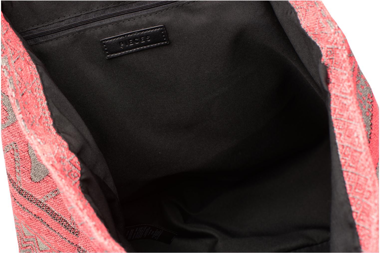 Handtassen Pieces Grace Canvas Shopper Roze achterkant