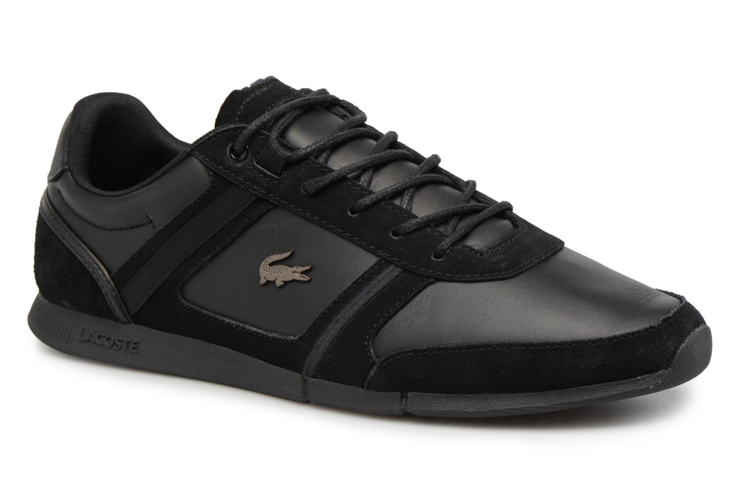 Trainers Lacoste MENERVA 118 1 Black detailed view/ Pair view