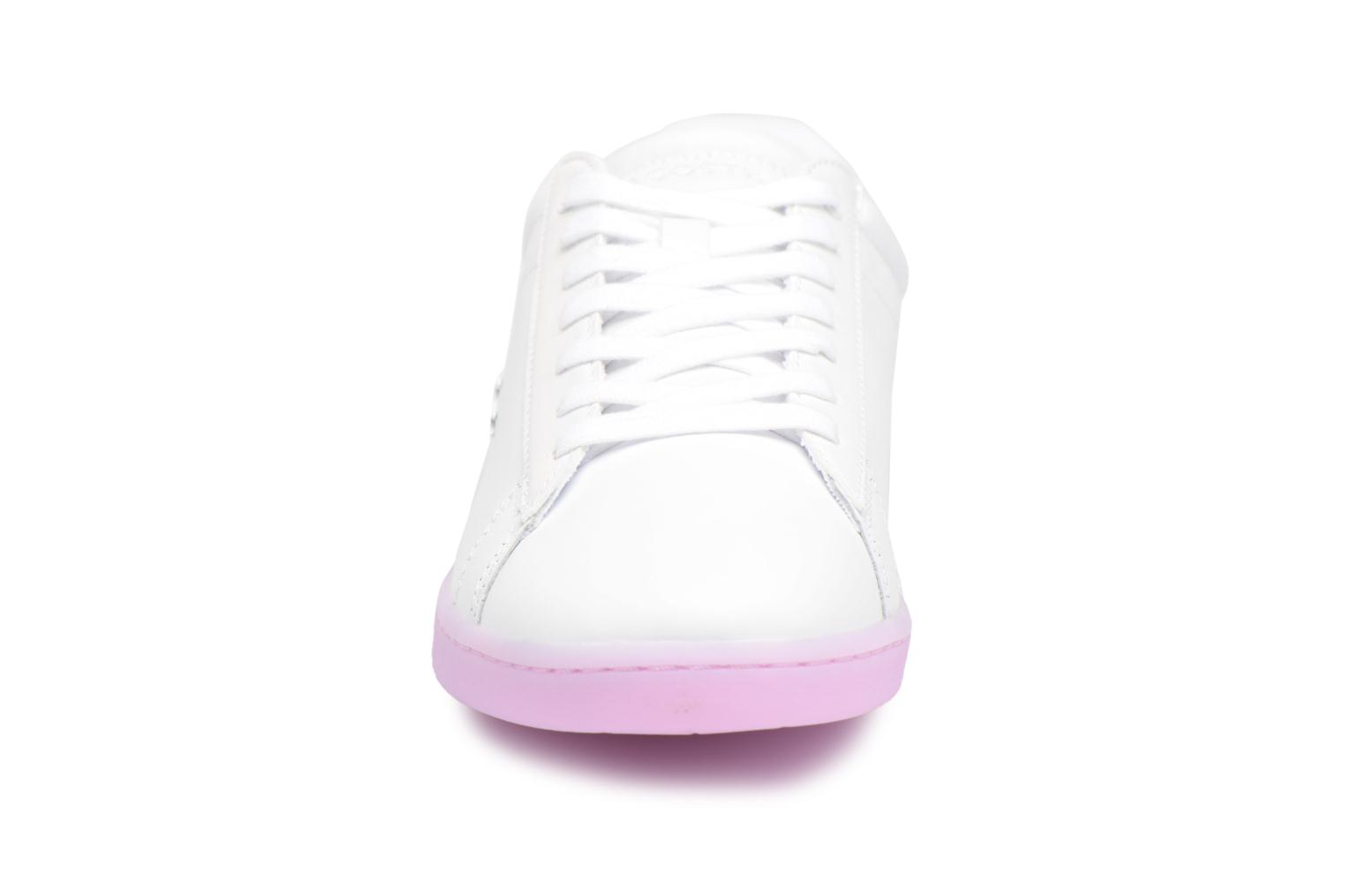 Baskets Lacoste CARNABY EVO 118 3 Blanc vue portées chaussures
