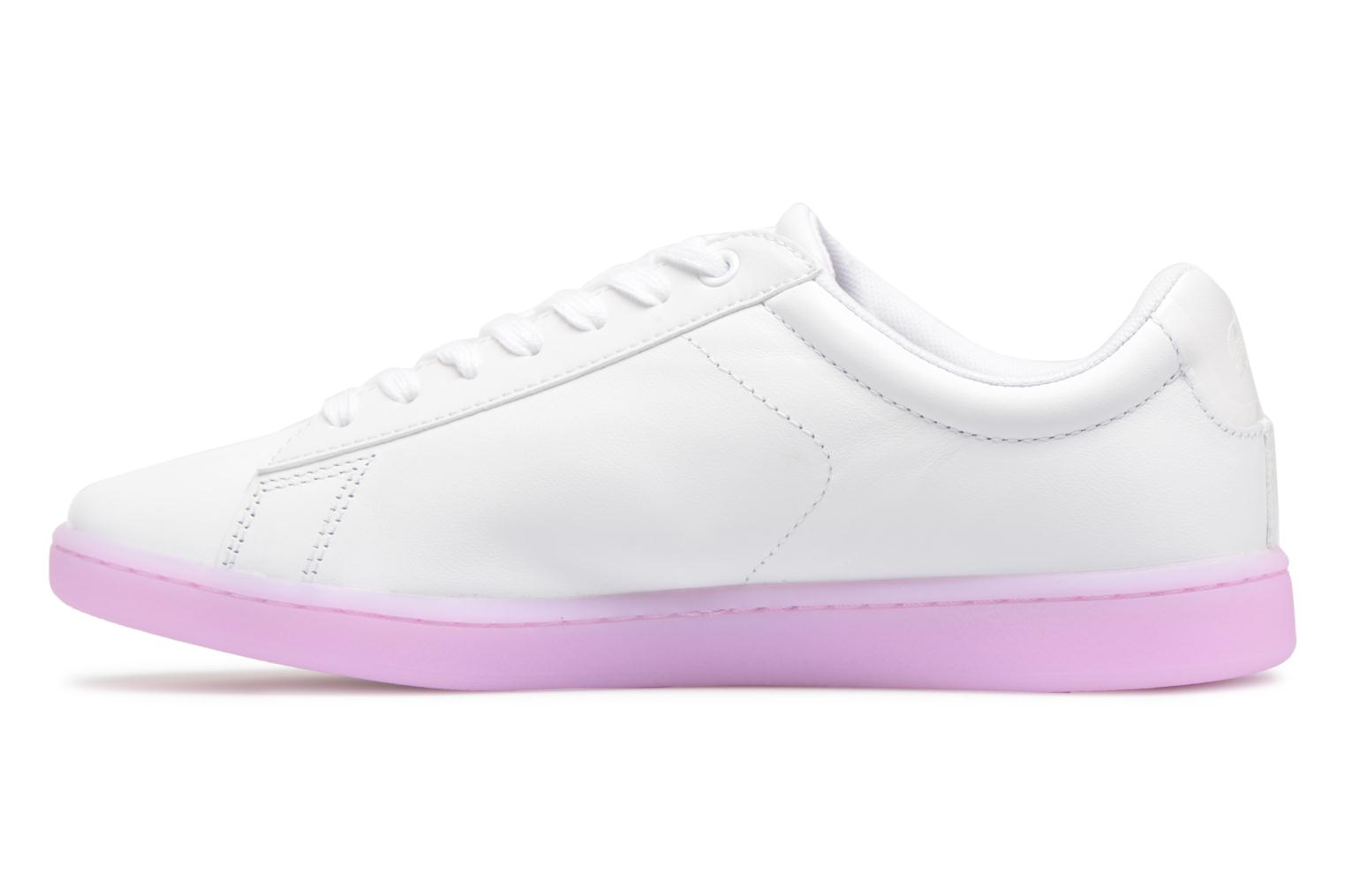 Baskets Lacoste CARNABY EVO 118 3 Blanc vue face