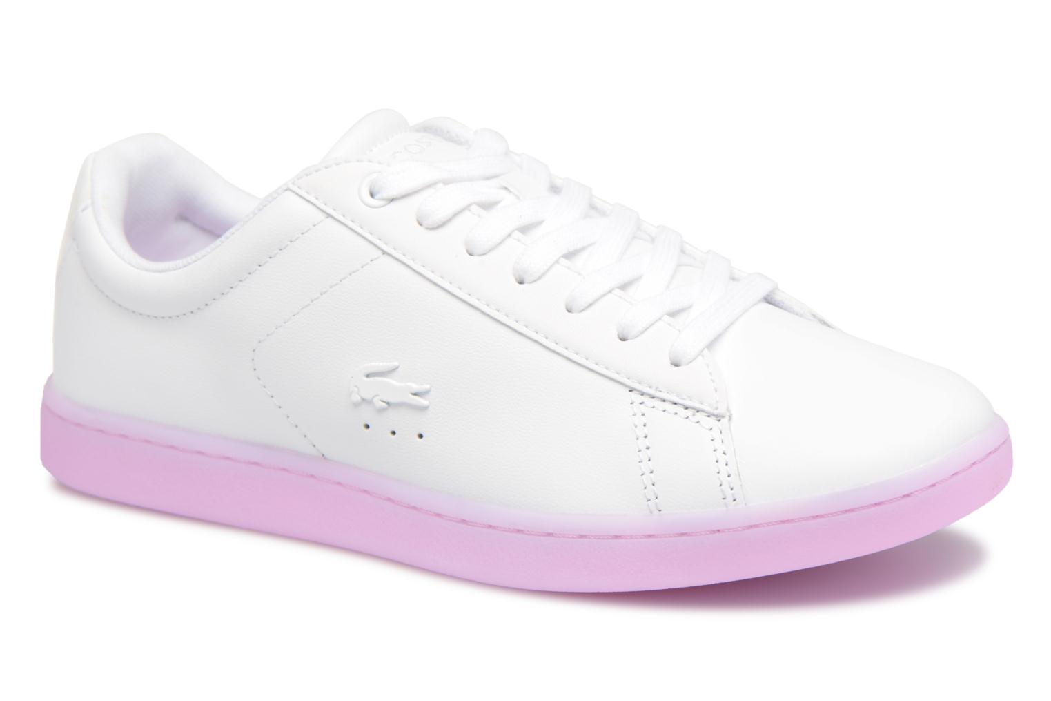 Baskets Lacoste CARNABY EVO 118 3 Blanc vue détail/paire