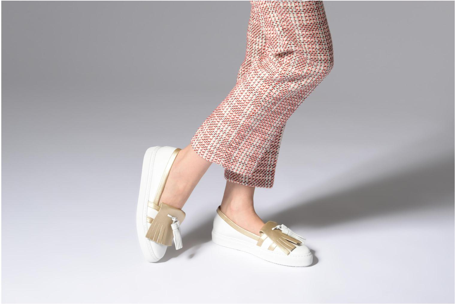 Loafers Fratelli Rossetti Moja White view from underneath / model view