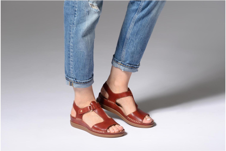 Sandales et nu-pieds Pikolinos CADAQUES W8K / 0578 sandia Rouge vue bas / vue portée sac