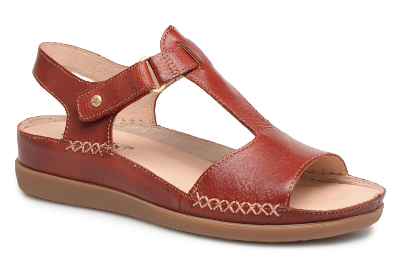 Sandales et nu-pieds Pikolinos CADAQUES W8K / 0578 sandia Rouge vue détail/paire