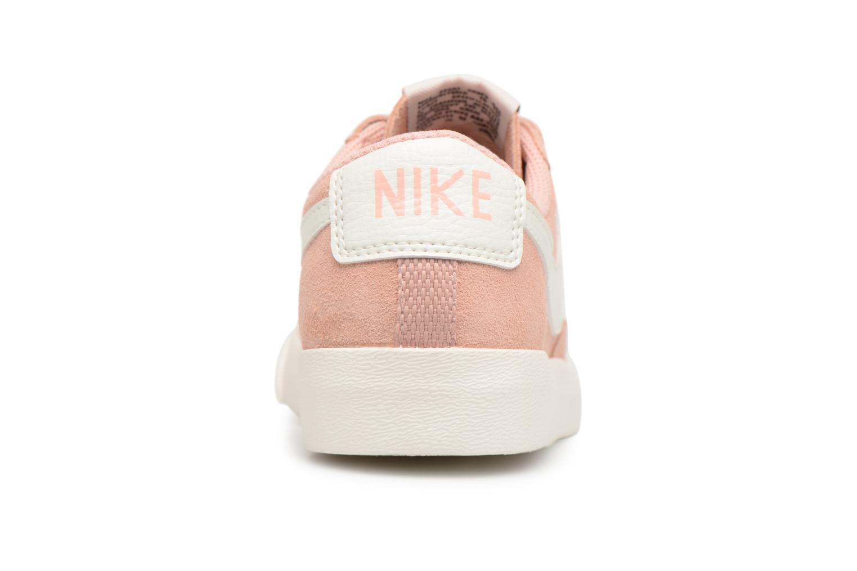 Baskets Nike W Blazer Low Sd Rose vue droite