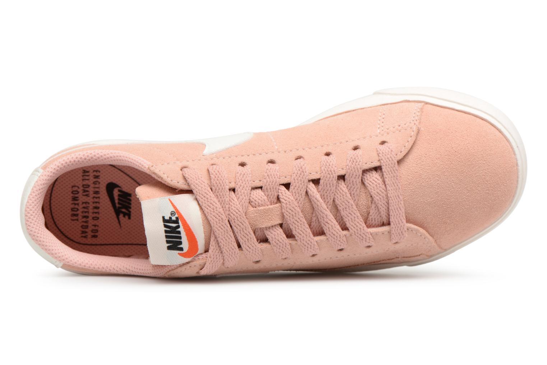 Baskets Nike W Blazer Low Sd Rose vue gauche