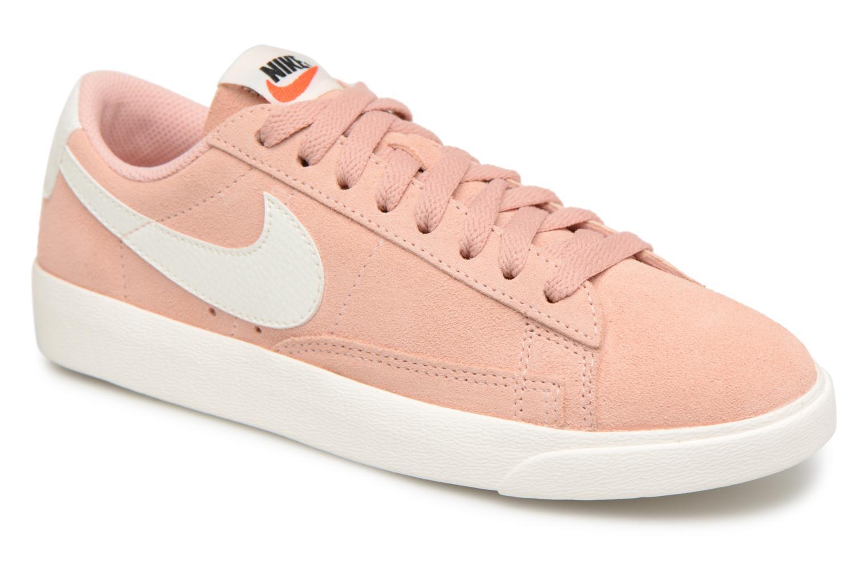 Baskets Nike W Blazer Low Sd Rose vue détail/paire
