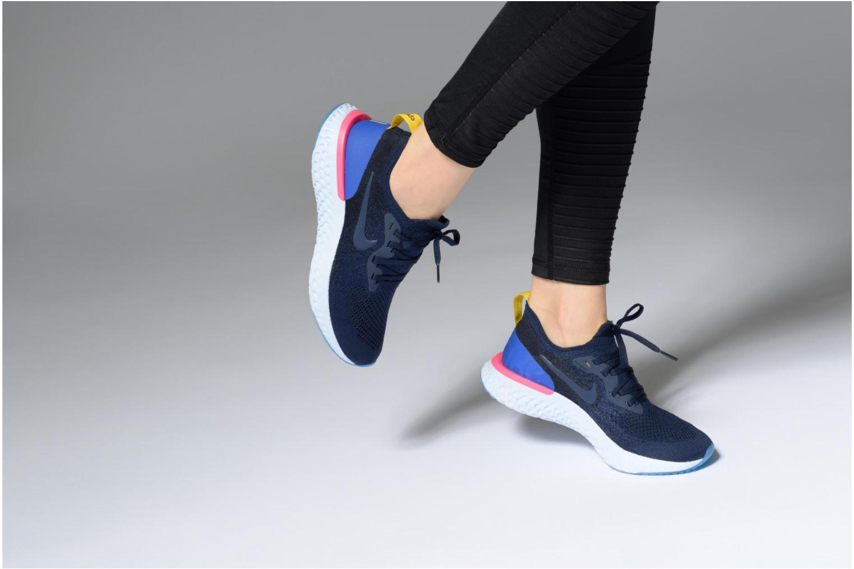 Chaussures de sport Nike Wmns Nike Epic React Flyknit Bleu vue bas / vue portée sac