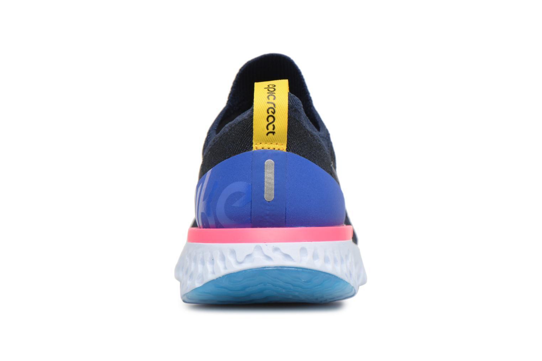 Chaussures de sport Nike Wmns Nike Epic React Flyknit Bleu vue droite