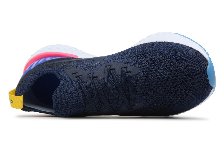Chaussures de sport Nike Wmns Nike Epic React Flyknit Bleu vue gauche