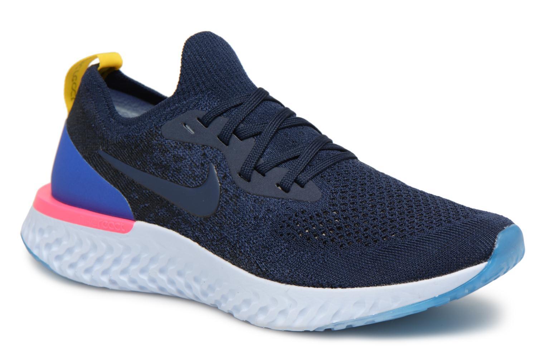 Chaussures de sport Nike Wmns Nike Epic React Flyknit Bleu vue détail/paire
