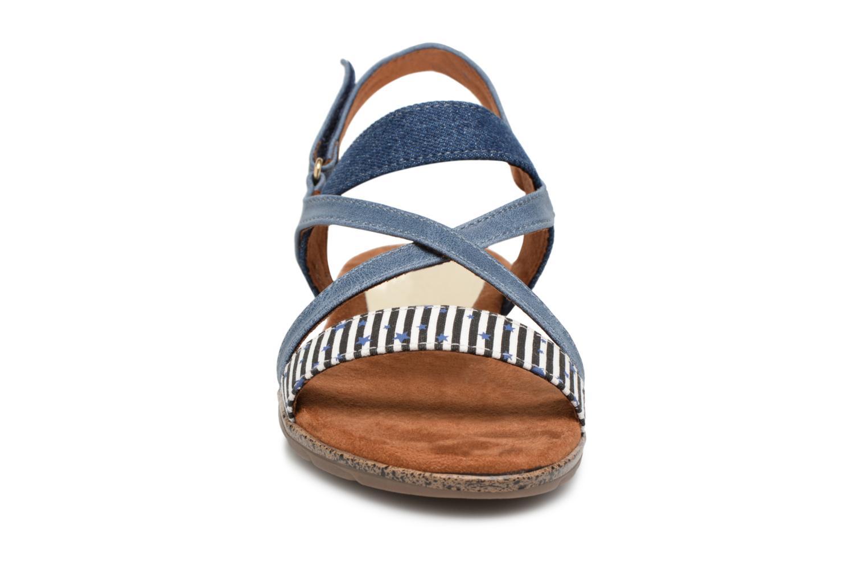Sandales et nu-pieds Tamaris Aurone Bleu vue portées chaussures