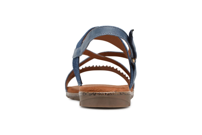 Sandales et nu-pieds Tamaris Aurone Bleu vue droite