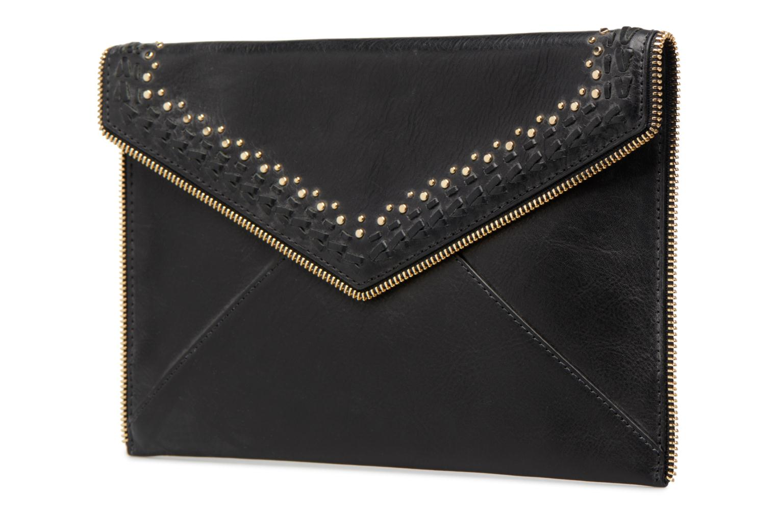 Clutch Rebecca Minkoff LEO CLUTCH WITH STUDS Zwart model