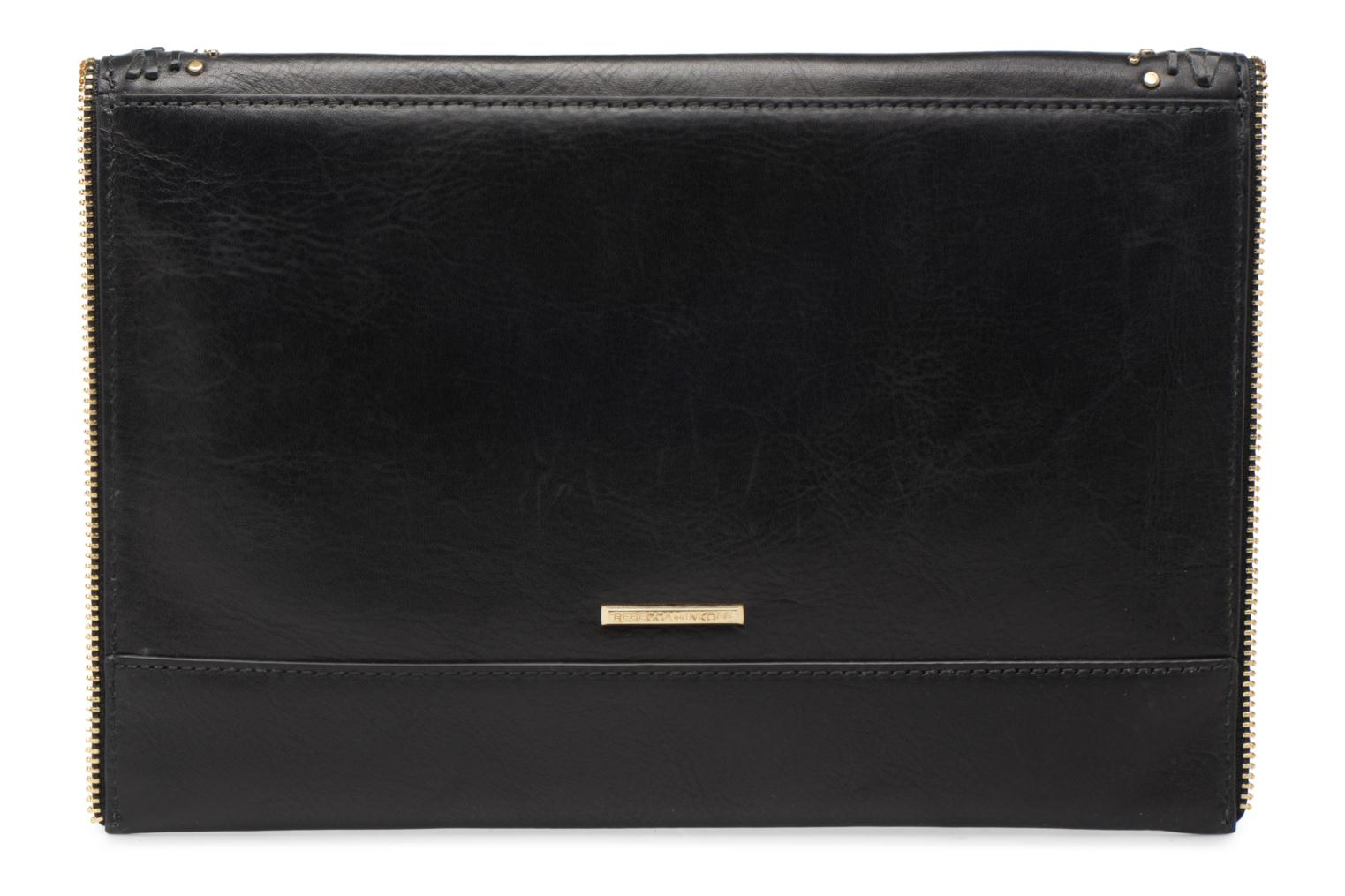 Sacs pochettes Rebecca Minkoff LEO CLUTCH WITH STUDS Noir vue face