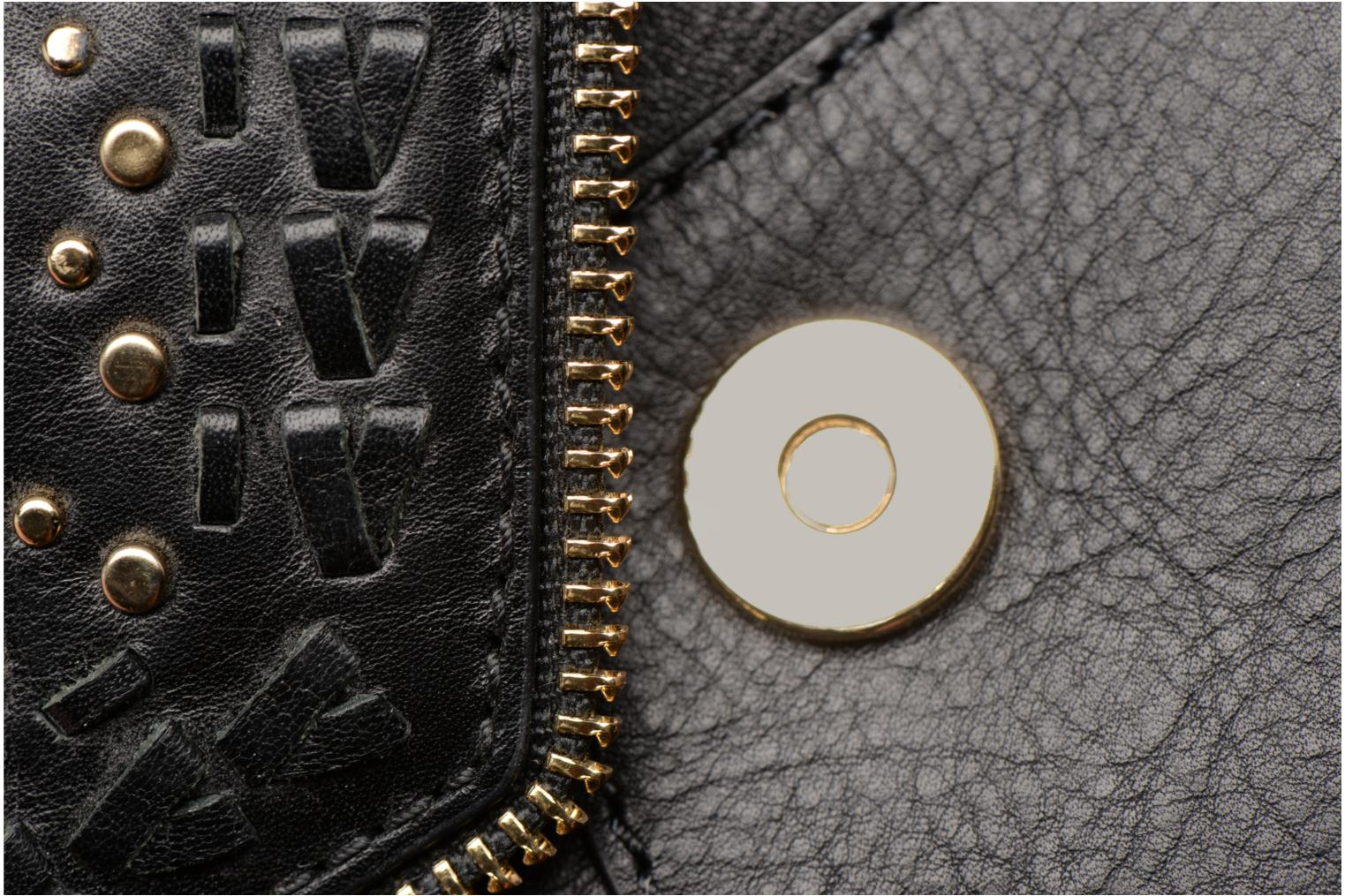 LEO CLUTCH WITH STUDS Black