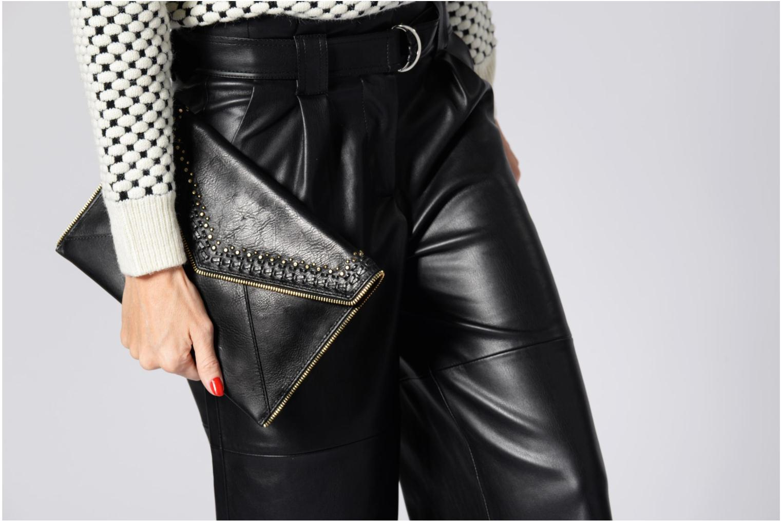 Clutch Rebecca Minkoff LEO CLUTCH WITH STUDS Zwart boven
