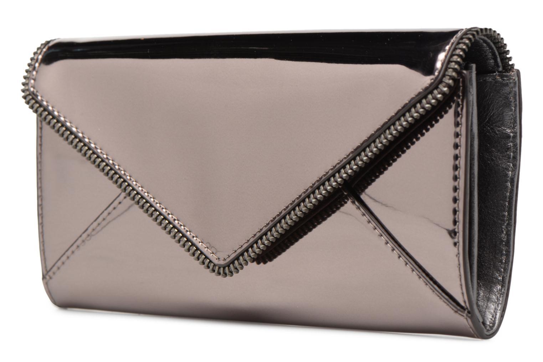 Portemonnaies & Clutches Rebecca Minkoff METALLIC LARGE WALLET grau schuhe getragen