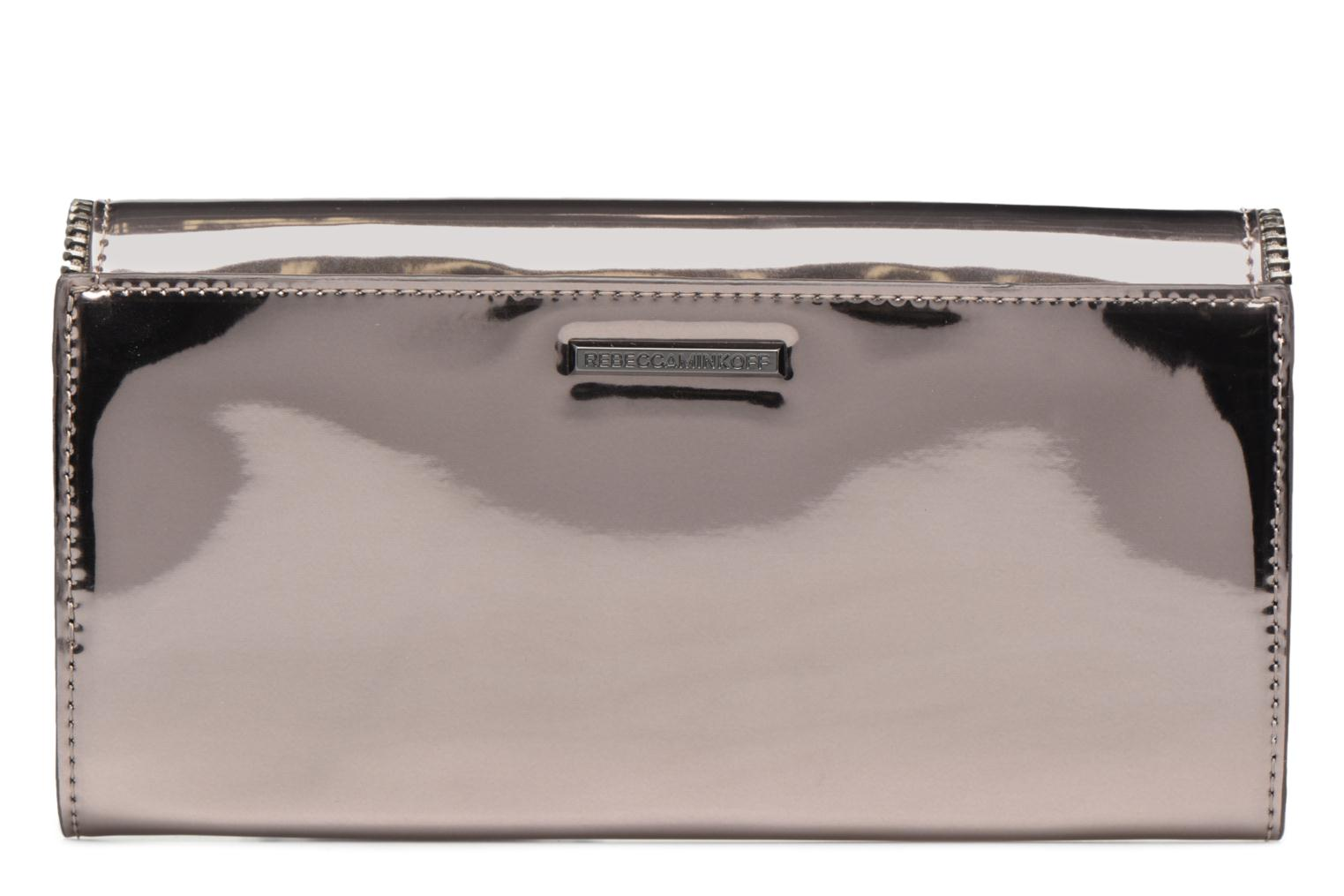 Petite Maroquinerie Rebecca Minkoff METALLIC LARGE WALLET Gris vue face