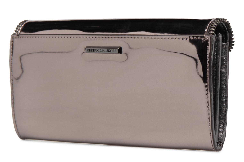 Portemonnaies & Clutches Rebecca Minkoff METALLIC LARGE WALLET grau ansicht von rechts