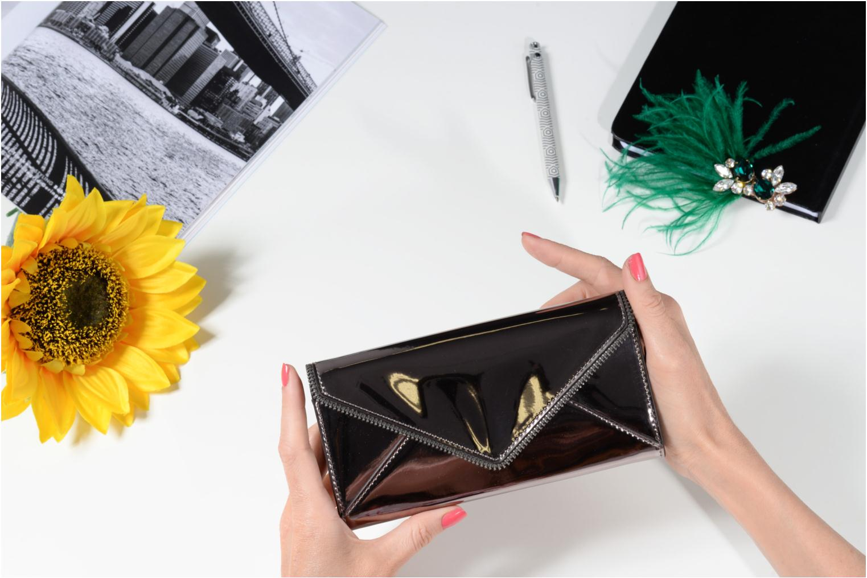 Portemonnaies & Clutches Rebecca Minkoff METALLIC LARGE WALLET grau ansicht von oben