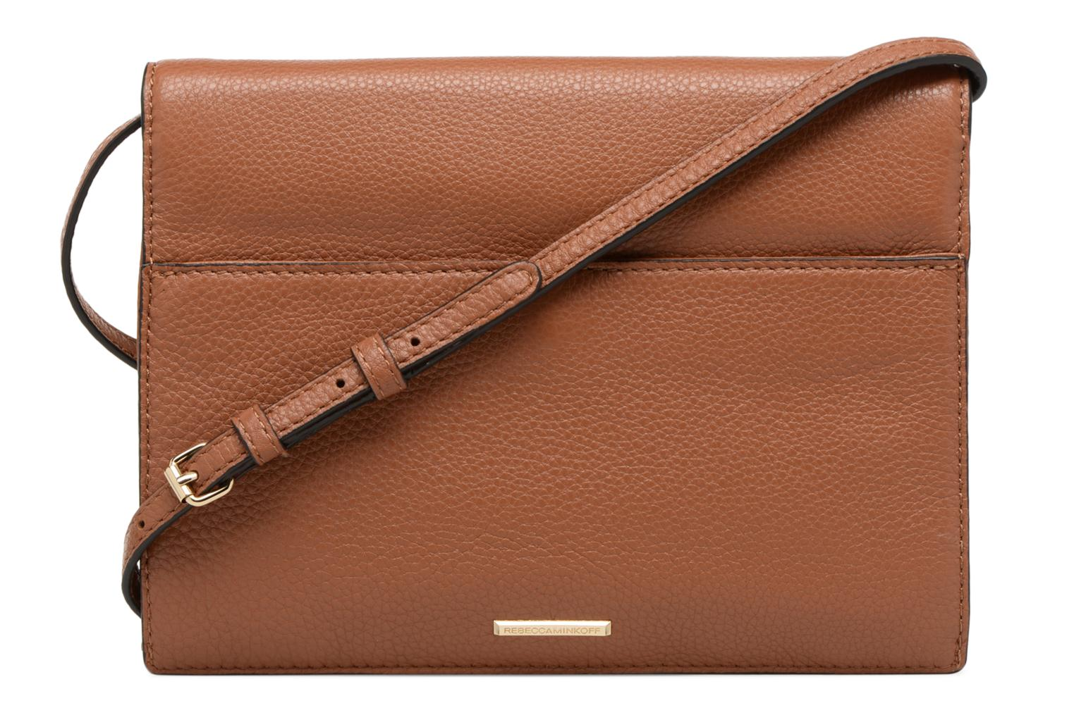Sacs à main Rebecca Minkoff SMALL REGAN CLUTCH Marron vue face