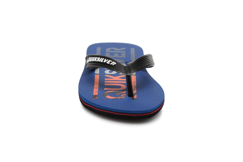 Tongs Quiksilver Molokai Wordmark Youth Bleu vue portées chaussures