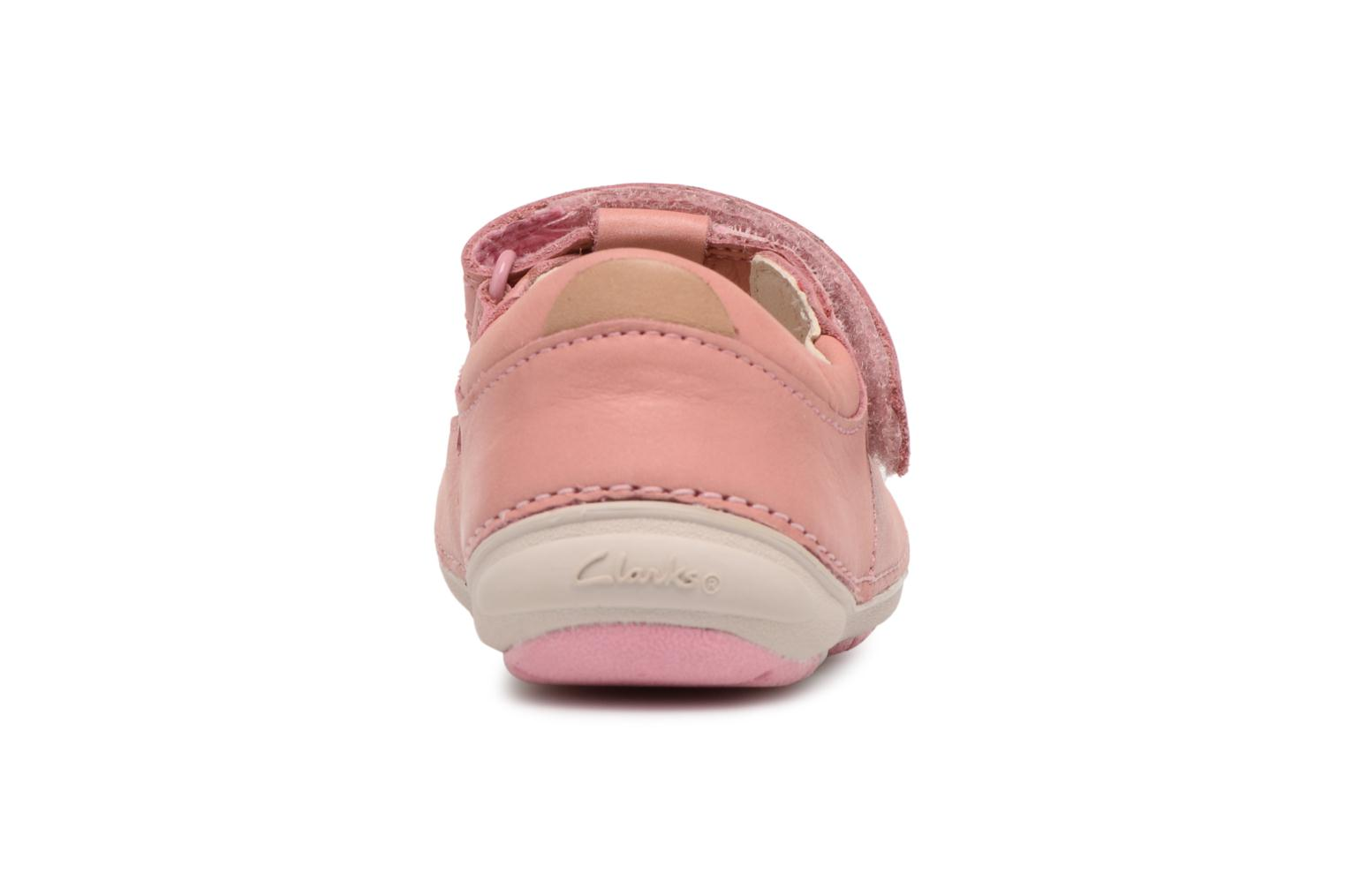 Ballet pumps Clarks Softly Blossom Pink view from the right