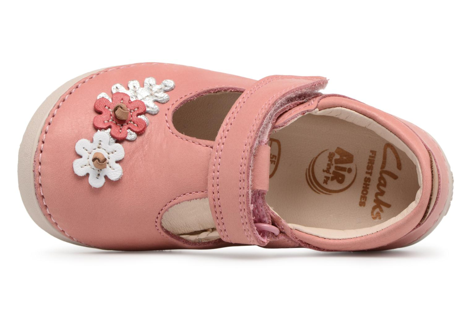 Ballet pumps Clarks Softly Blossom Pink view from the left